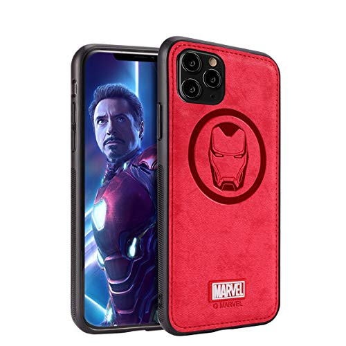 NARYM Case with Avengers Character Compatible with iPhone 12 and iPhone 12 Pro 6.1-Inch, Iron Man, Red