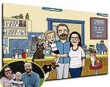 Custom Bobs Burgers Family Portrait Canvas - iToonify