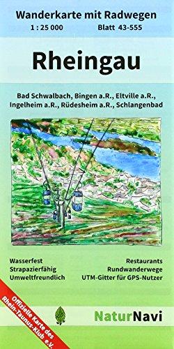 Rheingau: Wanderkarte mit Radwegen, Blatt 42-555, 1 : 25 000, Bad Schwalbach, Bingen a.R., Eltville a.R., Ingelheim a.R., Rüdesheim a.R., ... (NaturNavi Wanderkarte mit Radwegen 1:25 000)