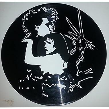Hand painted Tim Burton Edward Scissorhands vinyl record version 4