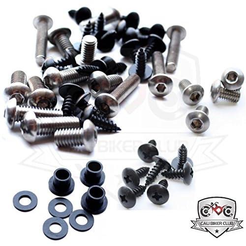 kawasaki ninja zx-14r zx14 2006-2011 motorcycle fairing bolt kit, screws,