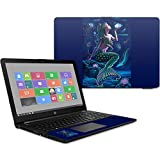 MightySkins Skin Compatible with HP 15t Laptop 15.6' (2017) - Luminous Mermaid | Protective, Durable, and Unique Vinyl Decal wrap Cover | Easy to Apply, Remove, and Change Styles | Made in The USA