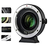 VILTROX EF-EOS M2 Auto Focus Lens Adapter 0.71x Reducer Speed Booster for Canon EF Mount Lens to Canon EF-M Mount Mirrorless Camera EOS-M M2 M3 M5 M6 M10 M50 M100