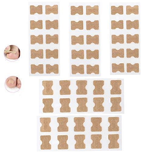 Ingrown Toenail Sticker Glue-free Toe Nail Correction File Patch Paronychia Corrector Foot Care Treatment Pedicure Tool Ingrown Toenail Correction Patch (5 Sheets)
