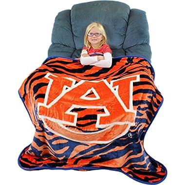 College Covers Auburn Tigers Super Soft Raschel Throw Blanket, 50  x 60