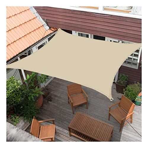 ZXSZX Sun Protection Rectangular Polyester Wind Protection Weather Protection Water Repellent Impregnated 95% UV Protection, Superior Tear Resistance,3.0x6.0 m