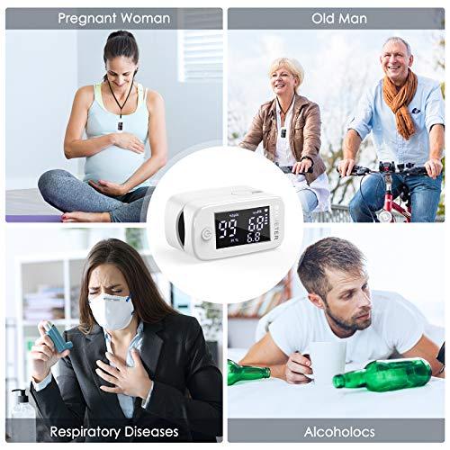 51aPHmraX+L - Oxímetro de dedo profesional KKmier Saturometer Oxímetro de pulso con pantalla LED Medición portátil de SpO2 PR PI para adultos Niños de edad avanzada (baterías y cable)