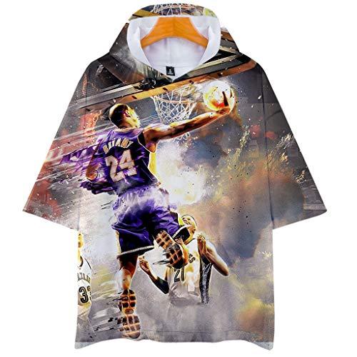 Rugby clothing boutique Q Homenaje K-BR-obe Yant Camiseta 8-24 Leyenda Camiseta Apoyo la Camiseta de Baloncesto Camiseta (Size : XXXXL)
