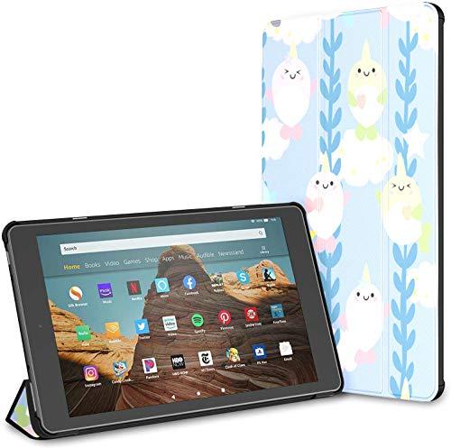 Estuche para la Popular y Divertida Tableta Unicorn Fish Fire HD 10 (9.a / 7.a generación, versión 2019/2017) Estuche para Tableta Kindle Fire Hd10 Estuche Protector Fire HD 10 Auto Wake/Sleep para