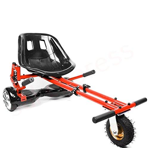 Enyaa, hoverkart regolabile, modello 2018, accessorio per trasformare gli hoverboard con ruote da 16,5/20,3/25,4 cm in go-kart elettrici, sicuro per adulti e bambini, red