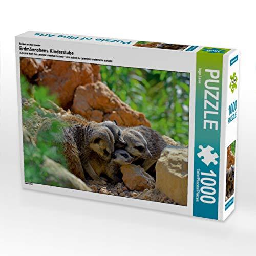CALVENDO Puzzle Erdmännchens Kinderstube 1000 Teile Lege-Größe 64 x 48 cm Foto-Puzzle Bild von Ingo Laue