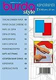 Burda Tracing-Papel de carbono (1 unidad), color azul y rojo, talla única