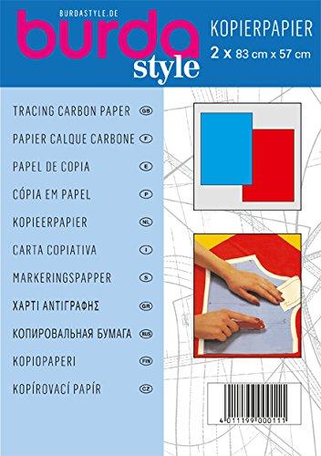 Burda Z001609 Transparentpapier blau, 1 x rot, Einheitsgröße