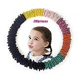 Kavya® 200 unidades de pequeñas gomas elásticas para el pelo, pequeñas gomas elásticas para el pelo, pequeñas y suaves, coletas de caballo, coleteros para bebés, multicolor y negro