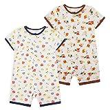 Froerley Pelele Bebé Niño Verano, Bodies Bebe Manga Corta, Ropa Bebe Niño 0-3 Meses, Mono Bebe Pijama Niños (2 pcs)