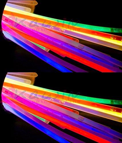 100 braccialetti luminosi fluo KAWIN Starlight DISCO GLOW