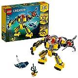 LEGO 31090 Creator 3 en 1 RobotSubmarino o Submarino o Centro de Búsqueda de Tesoros, Juguete de Construcción para Niños a Partir de 7 años