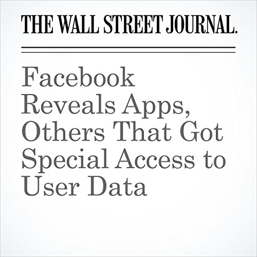Facebook Reveals Apps, Others That Got Special Access to User Data copertina