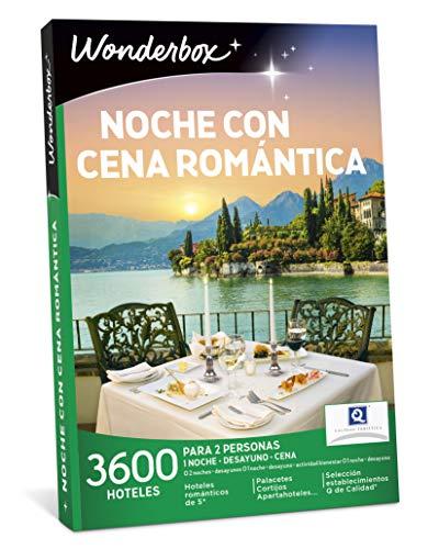WONDERBOX - Caja Regalo - Noche con Cena ROMÁNTICA - 3.600 hoteles en España y Europa