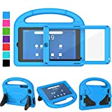 Tirin Kids Case for Walmart Onn 7 inch Tablet, Built-in Screen Protector, Shockproof Handle Stand Cover Case for Surf Onn 7' Android Tablet 2020/2019 (Model:100005206/100015685),Blue