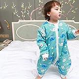Invierno Calentito Pyjamas,Saco Dormir Algodón Para Bebés Con Piernas Divididas, Mono Pijama Bebé Engrosado Otoño E Invierno-5_Metro