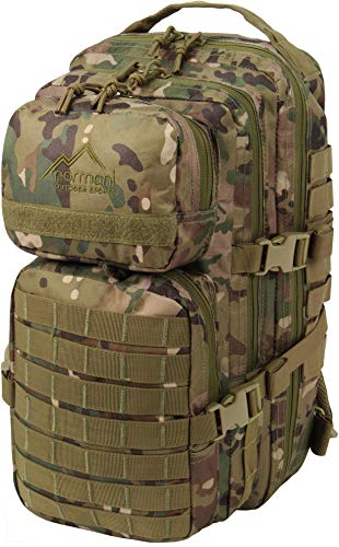 normani US Assault Pack Small, Rucksack, 25 Liter Farbe Multitarn