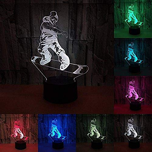 Scooter Movement 3D Touch Lamp LED Lamp Kleurrijke Visual 3D Night Light Kinder Gift Festival
