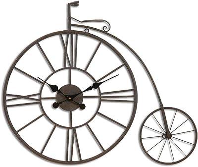 Weq Bicicleta de época Reloj Metal Arte de la Pared Antigua ...