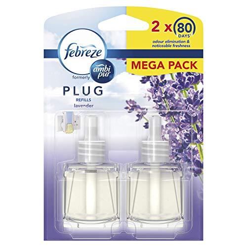 Febreze Ambi Pur Air Freshener Plug-In Diffuser Refill, Odour Eliminator,...