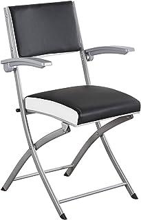 YUESFZ Chaises Pliantes Chaise De Bureau Portable en Métal Chaise De Mahjong De Salle À Manger Pliante À La Maison Chaise ...