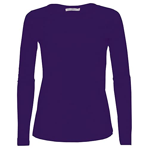 d872dc84c2e7e5 LessThanTenQuid Missloved ® Ladies Womens Plain Long Sleeve Round Neck Top  UK Sizes 8-18