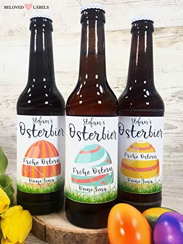 Personalisiertes Bier Flaschenetikett Ostern Geschenk - Ostergeschenk Osterhase Osterbier für Ihn Mann Freund Flaschen Etikett Bierflaschenetikett