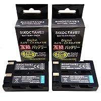 [str] [2個セット] ペンタックス D-Li50 コニカミノルタ NP-400 互換バッテリー [ 純正充電器で充電可能 残量表示可能 純正品と同じよう使用可能 ] シグマ BP-21/SD1/SD1 Merrill/SD14/SD15 ペンタックス K10/K10D/K10D GP/K10D Grand Prix/K20D サムソン SLB-1674/GX-10/GX-20 コニカミノルタ a Sweet DIGITAL/a-5 Digital/a-7 Digital/Dimage A1/Dimage A2/Dynax 5D/Dynax 7D/Maxxum 5D/Maxxum 7D/Minolta Dimage A1