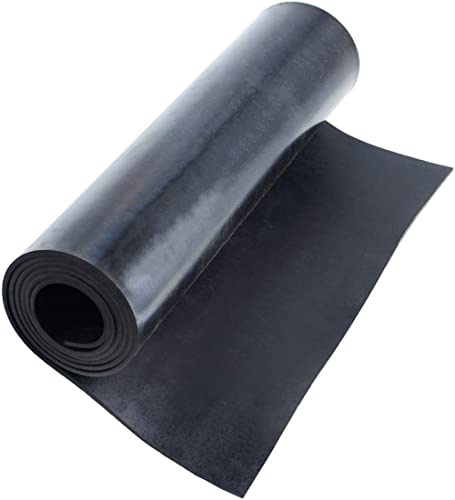 """Neoprene Rubber Sheet Rolls 1/8 (.125)"""" Thick X 12"""" Wide X 48'' Long, Solid Rubber Strips Use for Gaskets DIY Materia..."""