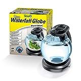 Tetra Duo Waterfall Globe – Aquarium rond design avec effet cascade – Idéal pour décorer la maison - Apaisant et Relaxant – Eclairage Led performant – Disponible en Noir ou Blanc - Contenance 6,8 L