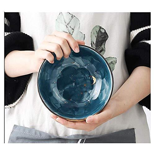 Mzxun 2 Piezas de cerámica Cuchara Desayuno Ensalada Tazón de cerámica estrellada pequeño tazón de fuente Comer Cuenco lindo de los hogares del cuenco de fruta Postre Tazón