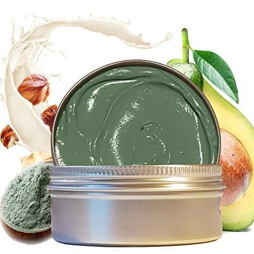 Maschera Viso Purificante uomo Punti neri e Acne, Maschere argilla verde viso esfoliante con acido...