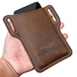 EASYANT Leather Cell Phone Holster Universal Case Sheath with Belt Hole Brown
