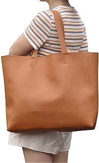Sturdy Designer Cowhide Handbags Women Shoulder Bags Fashion Female Large Capacity Liner Handbag Leather Tote Bags Large Capacity (Color : Brown, Size : 40cm x 35cm x 11cm)
