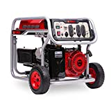 A-iPower SUA7000 7000-Watt Portable Generator Gas Powered, 7000 Rated Watt/6000 Running Watt, Red