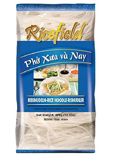 [ 400g ] RICEFIELD Vietnam Reisnudeln Stärke / 4mm / Bandnudeln / Rice Noodle