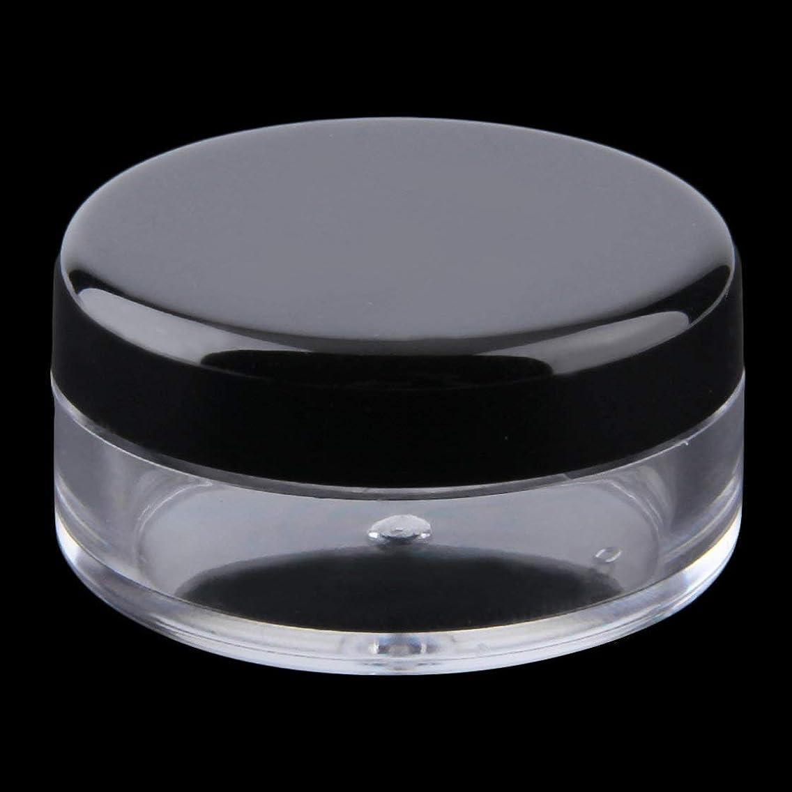 変形対処ファイバミニサイズと軽量ポータブル化粧品空のジャーポットアイシャドウメイクフェイスクリームリップクリーム容器詰め替えボトル(Rustle666)