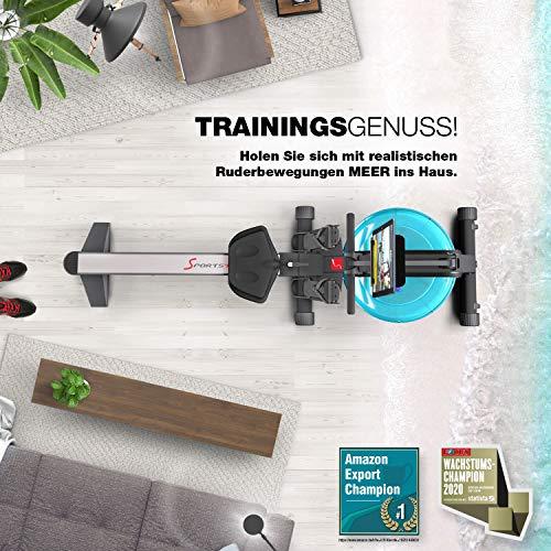 Sportstech WRX 400 Premium Wasser Rudergerät Design