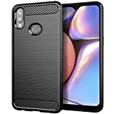 Osophter for Galaxy A10S Case,Samsung A10S Phone Case,Galaxy M01S Case Shock-Absorption Flexible TPU Rubber Full-Body Protective Cover for Galaxy A10S(Black)