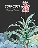 2019-2021 Monthly Planner: Blue Watercolor Floral, Monthly Calendar 36 Months Calendar Agenda Planner with Holiday 8' x 10'