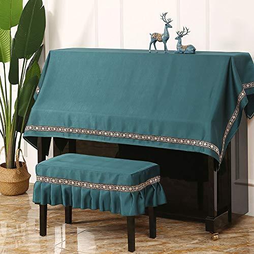 Dhl Sólido de Color Piano Cubierta de Polvo Cubierta del Teclado del Piano Moderno Minimalista Pedestal Cubierta (Color : Green, Size : Single Stool Set)