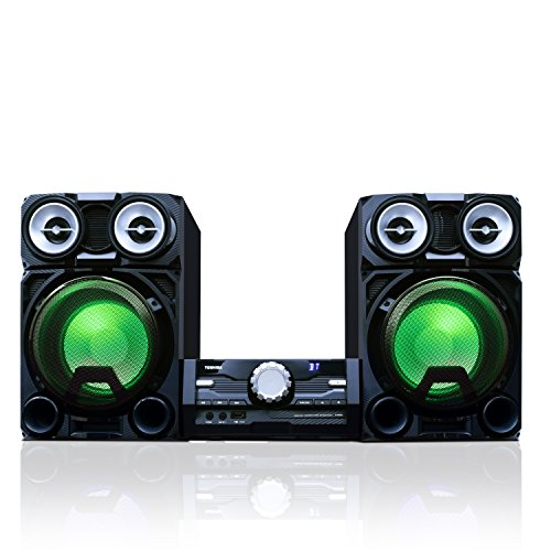 of lg shelf stereos Toshiba TY-ASW8000 800 Watt Bluetooth Stereo Sound System: Wireless Mini Component Home Speaker System with LED Lights