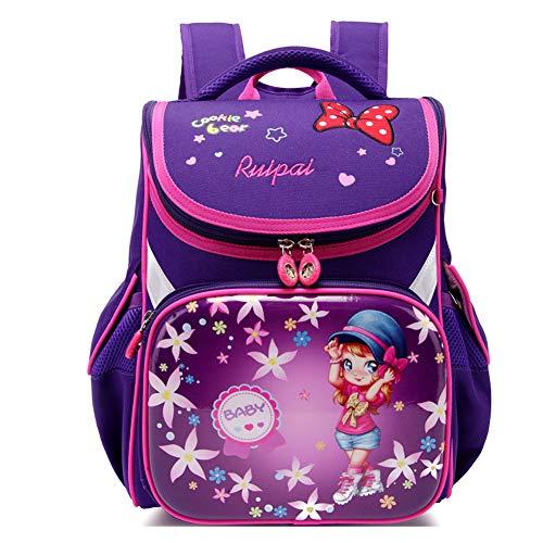 WOCTP Rucksack für Vorschulen, Schulrucksack für Mädchen, Kind, Buch-Rucksack, für Jungen und Primarstudenten Gr. One size, violett