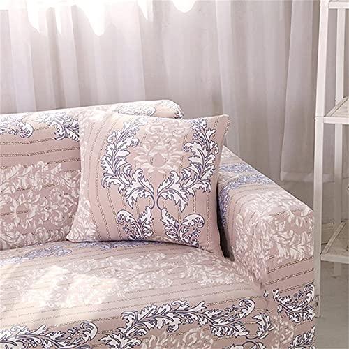 SUUZQK Funda De Almohada De Textiles para El Hogar para Decoración De Interiores De Dormitorio Funda De Almohada Bordada De Alce De Crisantemo Cuadrado 6Pcs 18x18Inch(45x45cm)