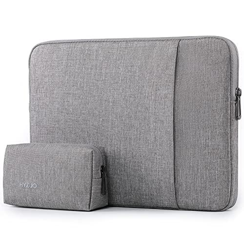 HYZUO 13 Zoll Laptop Hülle Tasche Laptophülle Schutzhülle Compatibel mit MacBook Air 13 M1 2018-2021/MacBook Pro 13 M1 2016-2021/Dell XPS 13/Surface Pro X 7 6 5 4/iPad Pro 12,9 2018-2021, Hellgrau